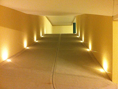 Illuminazione rampa garage ginnasticalmajuventusfano
